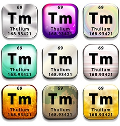 A periodic table button showing the thulium vector