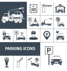 Parking lot set vector