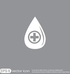 Drop with a cross medical symbol of liquid vector