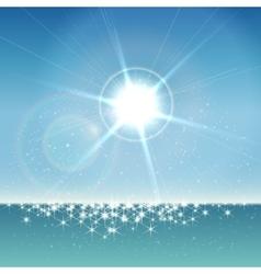 Seascape background vector