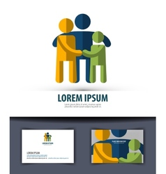 Family logo icon emblem template business card vector