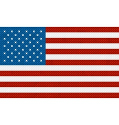 American flag background made with embroidery vector