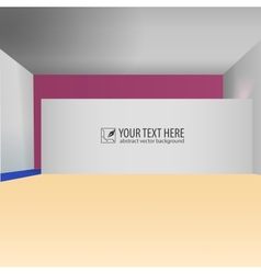 Abstract interior creative background vector