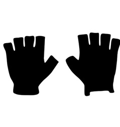 Fingerless gloves vector