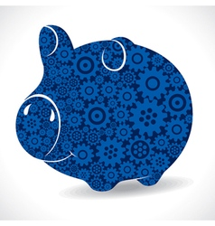 Gear piggy bank stock vector