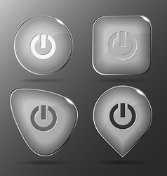Switch element glass buttons vector