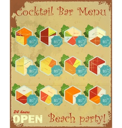 Cocktail bars menu vector