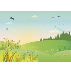 Rural summer vector