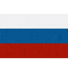Russian flag background made with embroidery vector