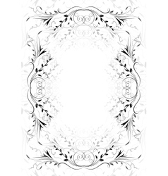 Abstract floral ornament on white background vector