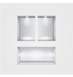 Niche gallery interior on gray vector