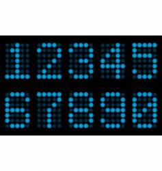 Blue digits for matrix display vector
