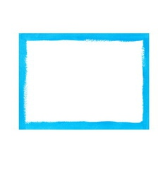 Bright blue grunge frame vector