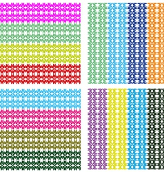 Brightly colored stripe pattern vector