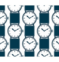 Seamless background with stylish wristwatches vector