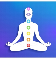 Chakras meditation vector