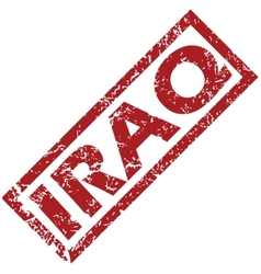 New iraq rubber stamp vector