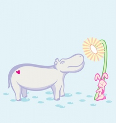 Hippo and rabbit vector