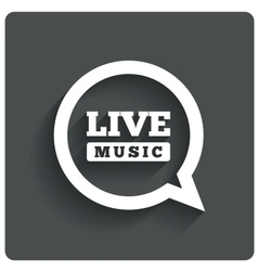 Live music icon speech bubble label karaoke vector
