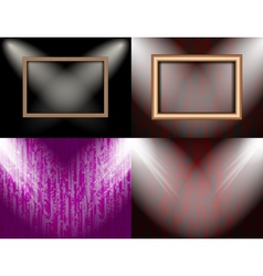 Set of background with frames and spotlights vector