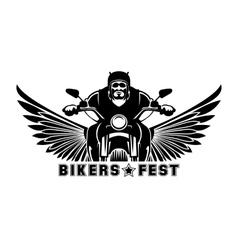 Biker logo vector