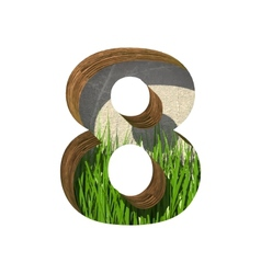 Grass cutted figure 8 paste to any background vector