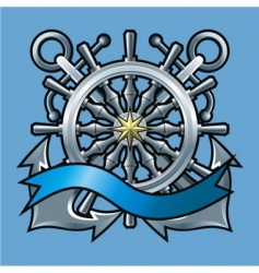 Marine emblem vector