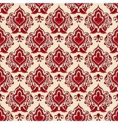 Damask flower seamless pattern vector