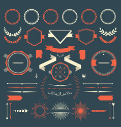 Retro design elements collection vector