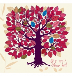 Autumn tree with foliage vector