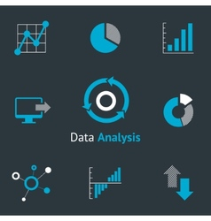 Data analytic icons vector