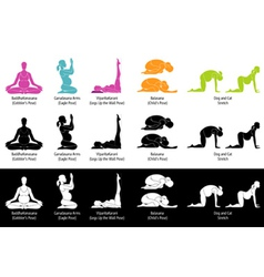 Yoga poses for pregnant small vector