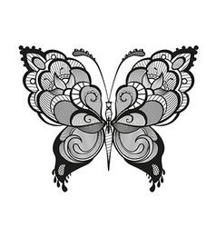 Ornamented abstract butterfly vector