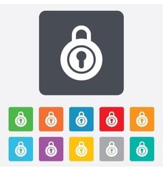 Lock sign icon locker symbol vector