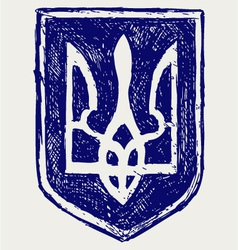 Emblem of ukraine vector