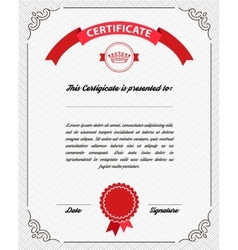 Template diploma certificate currency vector