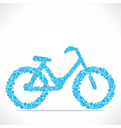Bicycle design with gear stock vector