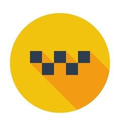 Taxi single icon vector