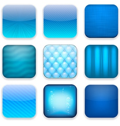 Blue app icons vector