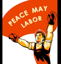 Workers day poster vector