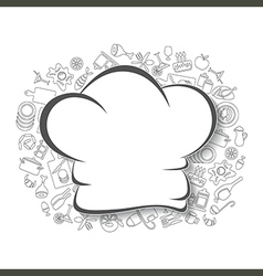 Cooking kitchen and food background vector