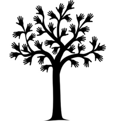 Hand tree vector