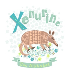 Letter x - xenurine vector