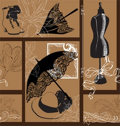 Nouveau fashion background vector