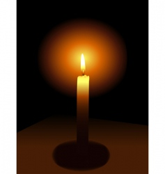 Candle on a dark background vector