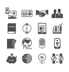Icons set business technology design vector