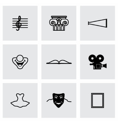 Culture icon set vector