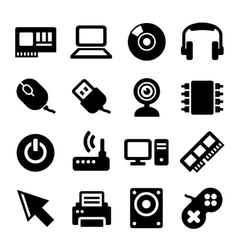 Computer icons set on white background vector