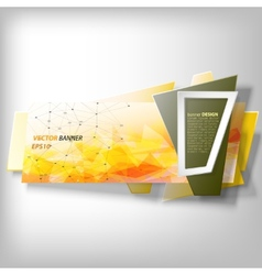 Infographic banner origami styled vector