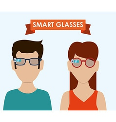 Smart glasses vector